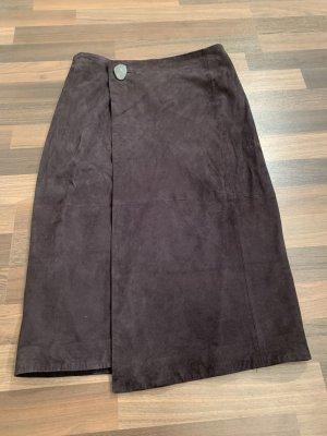 Mango Kopertowa spódnica czarny