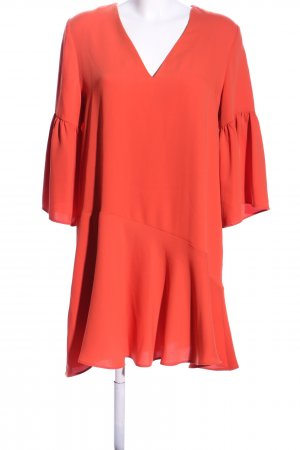 Mango Flounce Dress red casual look