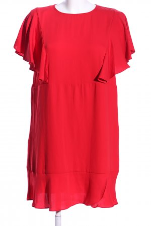 Mango Flounce Dress red elegant
