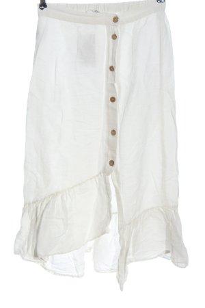 Mango Flounce Skirt white casual look