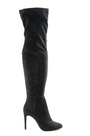 Mango Wide Calf Boots black casual look