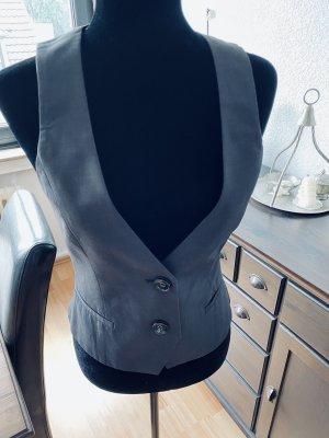 Mango Suit Dwustronna kamizelka antracyt