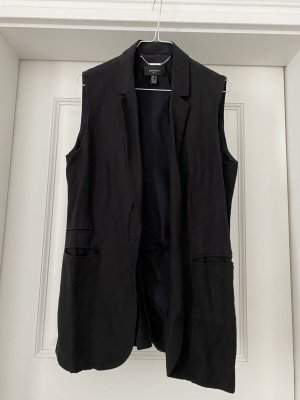 Mango collection Long Knitted Vest black