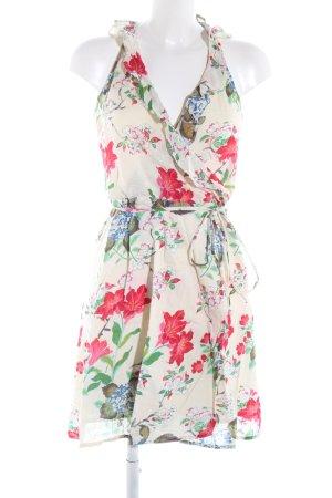 Mango Vestido cruzado estampado floral elegante