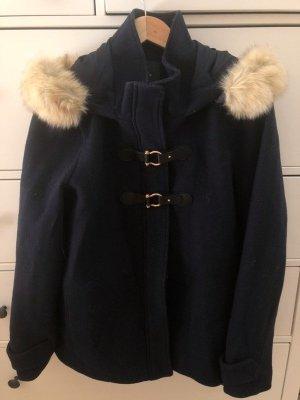 Mango Duffle-coat bleu foncé
