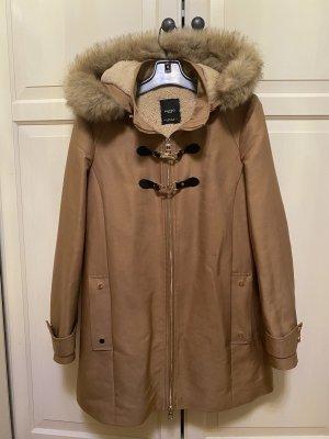 Mango Winter Jacket camel