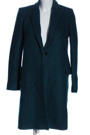 Mango Winter Coat turquoise casual look