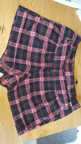 Mango Pantalón de lana negro-rojo oscuro Lana