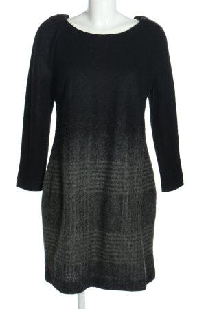 Mango Vestido de lana gris claro-negro degradado de color look casual