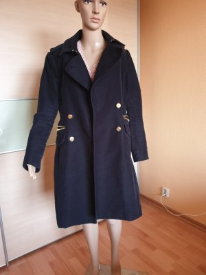 Mango Abrigo de lana azul oscuro