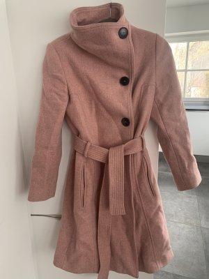 Mango Abrigo de lana rosa empolvado