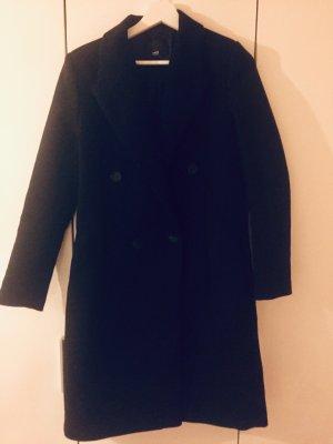 Mango Abrigo de lana negro