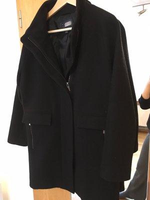 Mango Veste en laine noir