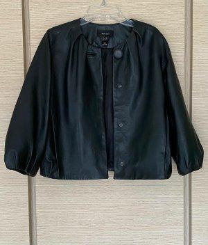 Mango Blazer en cuir noir