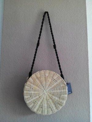 Mango wunderschöne Korbtasche aus Bambus, neu