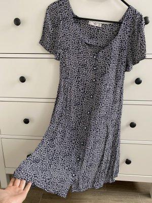 Mango Summer Dress white-dark blue