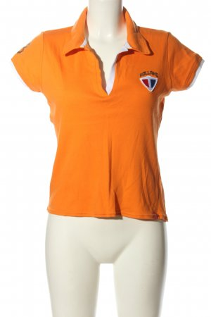mangoon Polo-Shirt Motivdruck Casual-Look