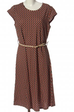 Manguun A-Linien Kleid Allover-Druck Casual-Look