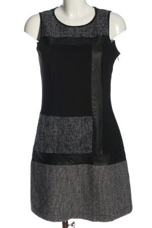 Manguun A-Linien Kleid schwarz-hellgrau Casual-Look