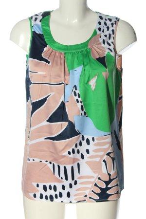 Manguun ärmellose Bluse abstraktes Muster Casual-Look