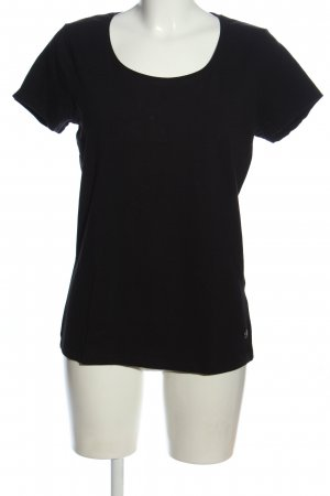 Manguun Basic-Shirt schwarz Casual-Look