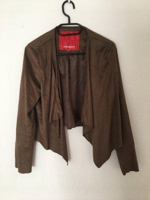 Manguun Leren blazer bruin-cognac