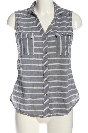 Manguun Blusa grigio chiaro-bianco stampa integrale stile casual