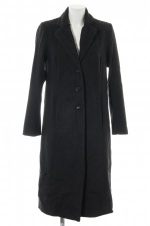 Manguun Heavy Pea Coat black flecked casual look