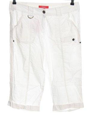Manguun Spodnie Capri biały W stylu casual