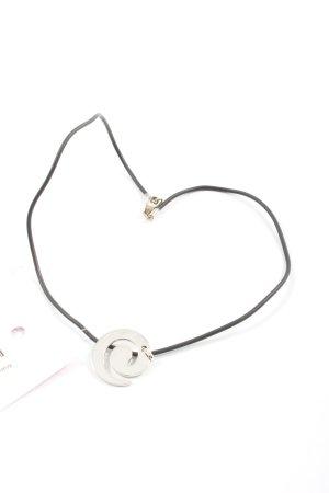 Manguun Collar estilo collier color plata-negro elegante