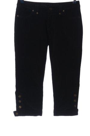 Manguun Pantalone di velluto a coste nero stile casual