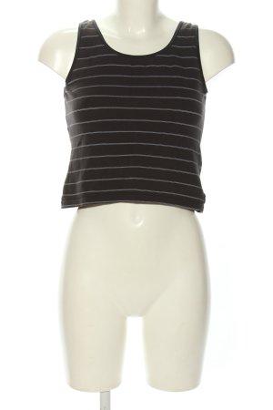 Manguun Cropped Top schwarz-weiß Streifenmuster Casual-Look