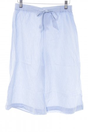 Manguun Culottes weiß-blau Streifenmuster Casual-Look