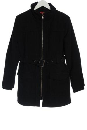 Manguun Manteau polaire noir style décontracté