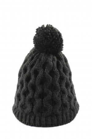 Manguun Cappello all'uncinetto nero stile casual