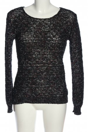 Manguun Crochet Sweater black cable stitch casual look