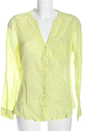 Manguun Hemd-Bluse blassgelb Casual-Look