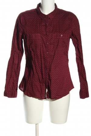 Manguun Hemd-Bluse rot-pink Allover-Druck Casual-Look