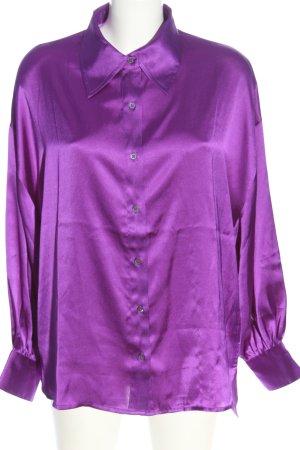 Manguun Hemd-Bluse lila Business-Look