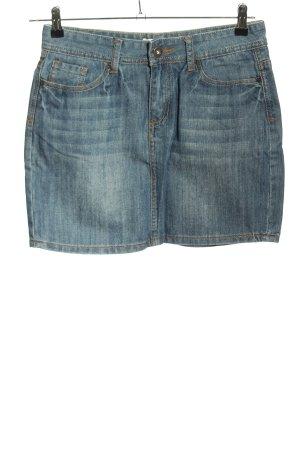 Manguun Gonna di jeans blu stile casual
