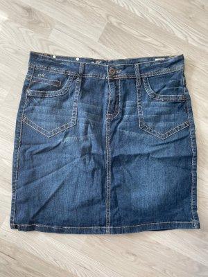 Manguun Gonna di jeans blu scuro-blu