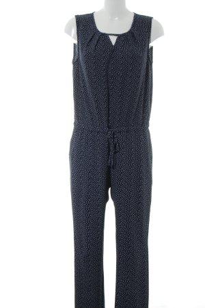 Manguun Jumpsuit blau-weiß Allover-Druck Casual-Look