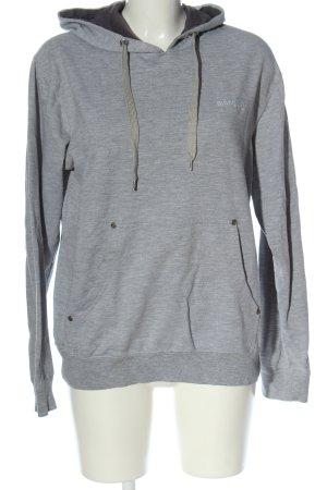 Manguun Hooded Sweatshirt light grey casual look