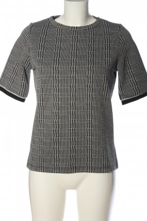 Manguun Checked Blouse black-light grey allover print casual look