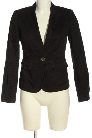 Manguun Korte blazer zwart zakelijke stijl