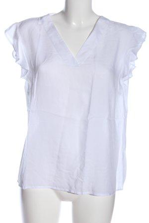 Manguun Kurzarm-Bluse weiß Casual-Look