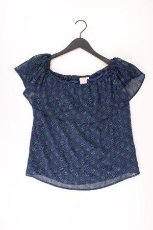 Manguun Short Sleeved Blouse blue-neon blue-dark blue-azure polyester