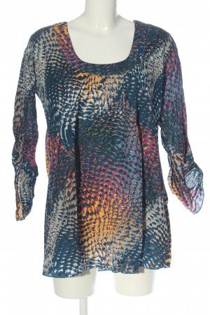 Manguun Long Sleeve Blouse abstract pattern casual look
