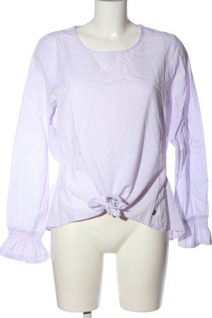 Manguun Langarm-Bluse lila Business-Look