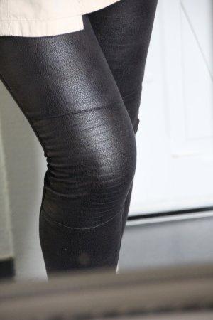 Manguun Leder-Look Leggings Jeggings Gr. XS/34 Blogger